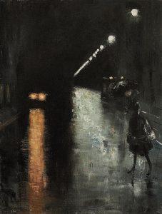 Ury Lesser, Nocturnal Street Scene, Berlin